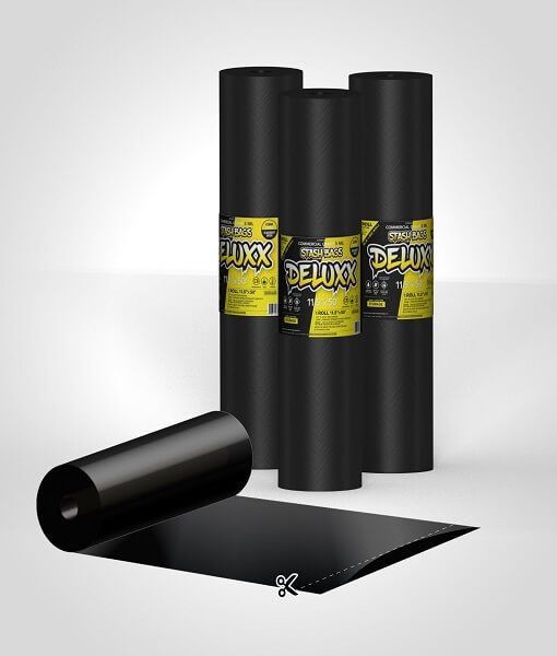 StashBags – 11.5″ x 50′ Vacuum Seal Roll (Black/Clear)