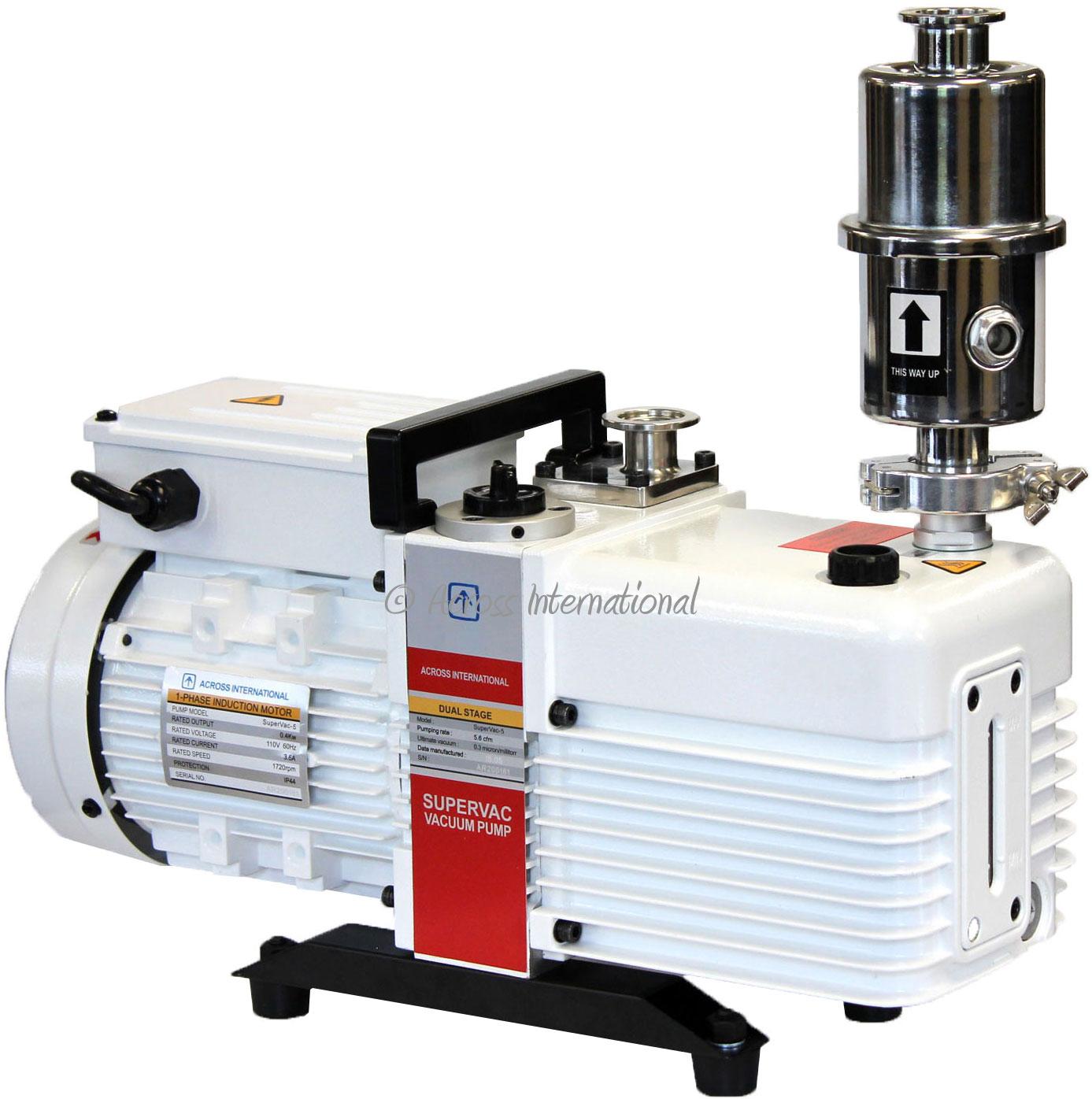 Across International SuperVac 5.6 CFM Commercial Grade 2-Stage Pump