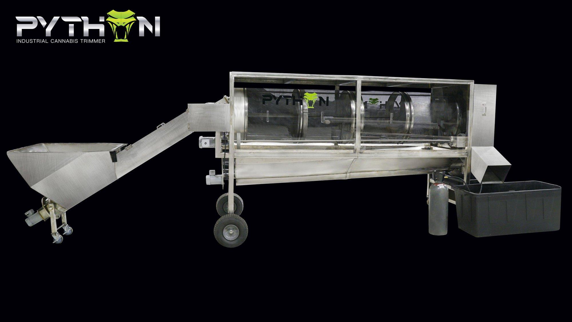 Python Hemp and Cannabis Trim Machine