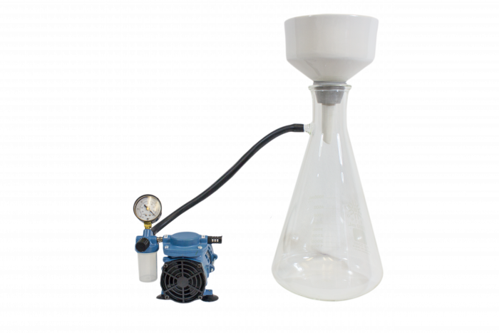 Complete Buchner Kit: 150 mm Porcelain Funnel 5L Side Arm Flask Adapters Filters Tubing and Pump