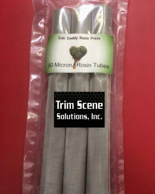 Dab Daddy 50 Micron Stainless Steel Rosin Tubes pack of 3