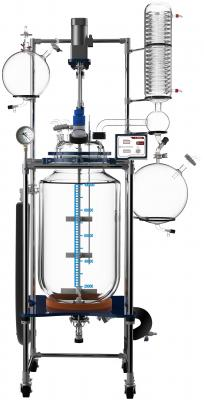 Ai Fully Customizable 100L Single Jacketed Glass Reactor