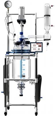 Across International Fully Customizable 10L Single/Dual Jacketed Glass Reactor