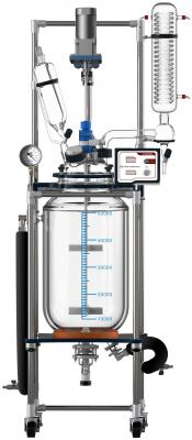 Across International Fully Customizable 50L Single/Dual Jacketed Glass Reactor