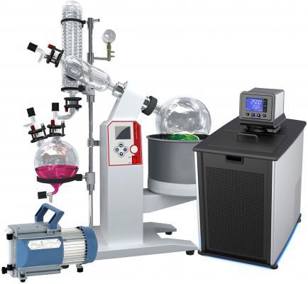 Ai 5L SolventVap w/ PolyScience Chiller & Vacuubrand Pump 110V