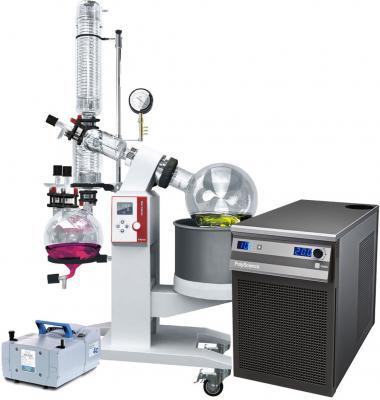 Ai 10L SolventVap w/ PolyScience Chiller & Vacuubrand Pump 220V