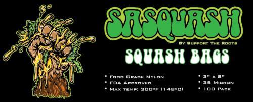 "Sasquash 3"" x 8"" Squash Rosin Bags"