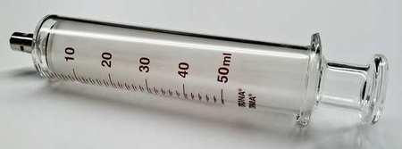 50ml Glass Luer Lock syringe