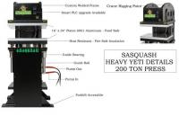 Sasquash Heavy Yeti Cannabis and Hemp bud rosin press