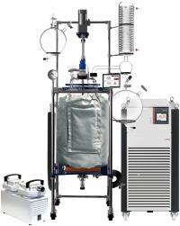 Across International R Series 100L Single Jackted Glass Reactor w/ Chiller & Pump