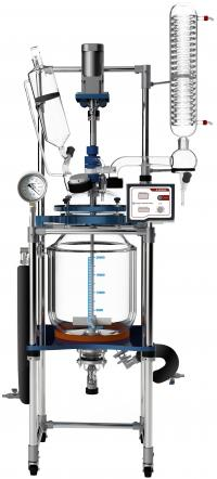 Across International Fully Customizable 20L Single/Dual Jacketed Glass Reactor
