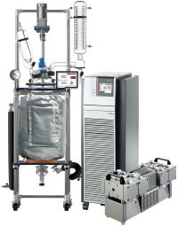 Across International R Series 50L Single Jacketed Glass Reactor w/ Chiller & Pump