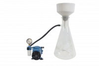 Complete Buchner Kit: 185 mm Porcelain Funnel 5L Side Arm Flask Adapters Filters Tubing and Pump